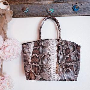 Justfab Snake Ready Chic Bag EUC